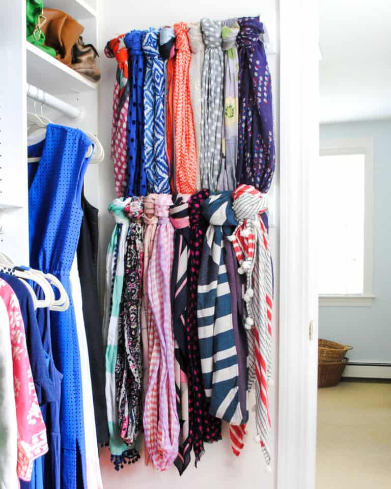 I think most of us want to make the most out of every square inch of our closet space while also keeping things neat and orderly so we can find what we're looking for! Which is why I gathered together 12 organized closet ideas to inspire all of us to get organized with our storage (and make it all look pretty too!)
