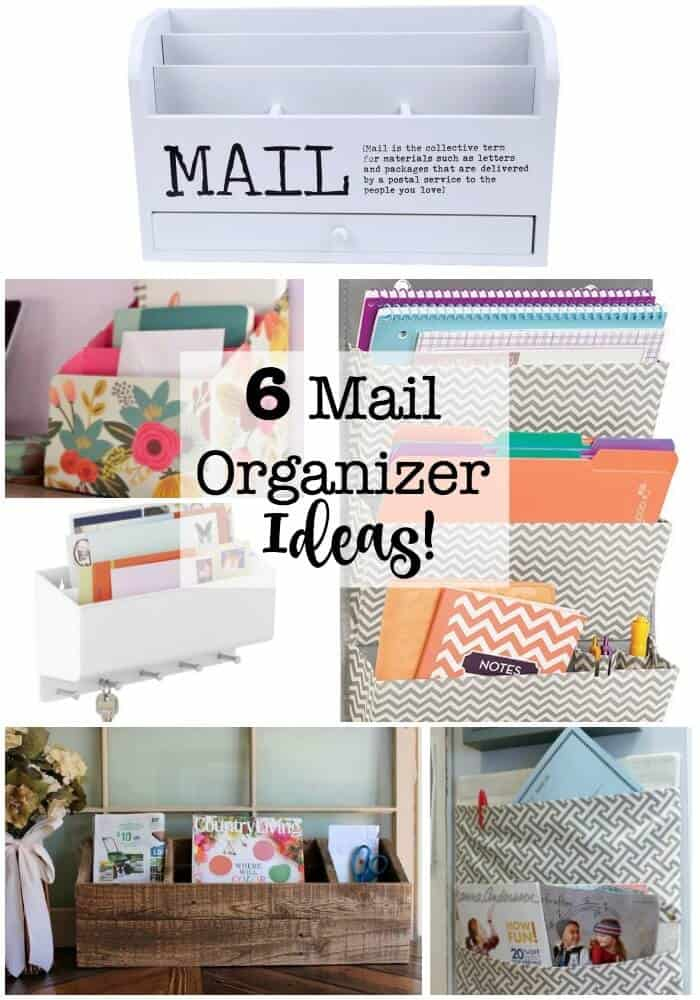 You need a great mail organizer to handle all of the mail, paperwork, flyers, and invitations coming your way! This post has some great wall mail organizers, as well as one for the countertop and desktop! #MailOrganizer #WallMailOrganizer #DIYMailOrganizer #CountertopMailOrganizer #GetOrganized