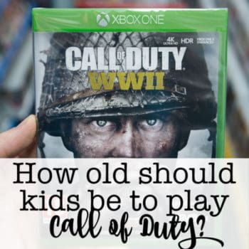 How old should kids be to play Call of Duty?