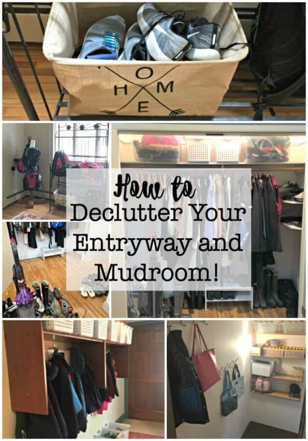 Here's how to declutter your entryway and mudroom- and once you get this done you'll be motivated to declutter your entire home!