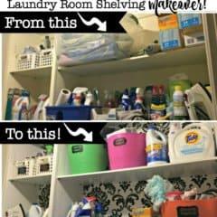 Laundry Room Shelving Makeover!