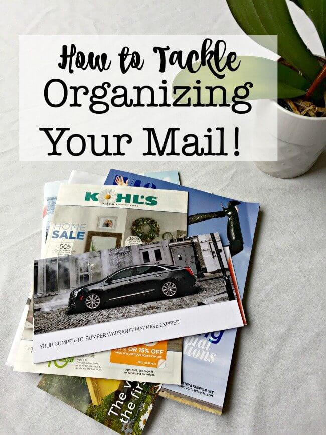 If you don't have a sorting routine and a place to put the mail- it ends up as paper clutter! In this post, I share tips for mail organization that I use every day!