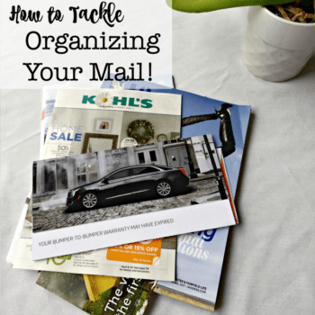 If you don't have a sorting routine that you use right away when mail enters the house, and a place to put it after it once it is sorted- it ends up piling up all over your kitchen counters! So today I am sharing my tips for mail organization that I use every day!