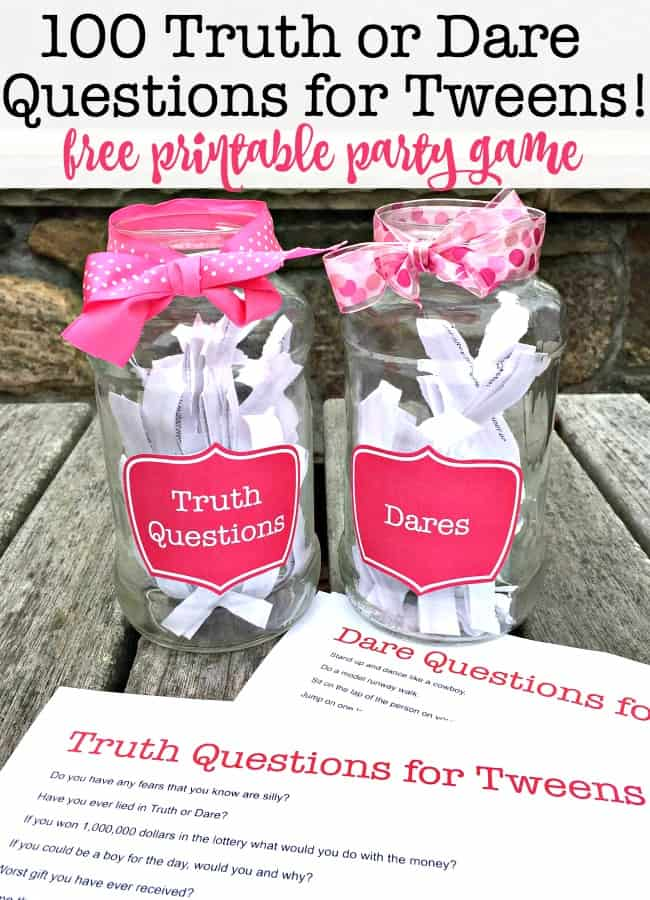 6fb21a7582d0e Truth or Dare is the perfect party game for tween sleepover parties.  Because sometimes when