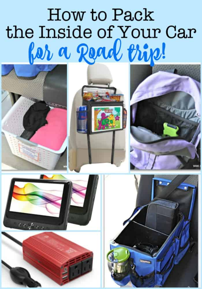 Heading out on the road soon? Here are some travel hacks on how to pack your car for a road trip- from a Mom of 6 kids!