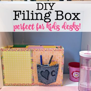 DIY Filing Box (perfect for kids desks!)