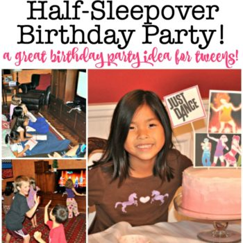 7 Year Old Girl Birthday Party Idea: Half Sleepover Birthday Party!
