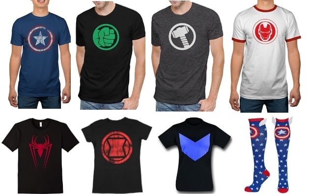 Marvel superhero tees for Halloween