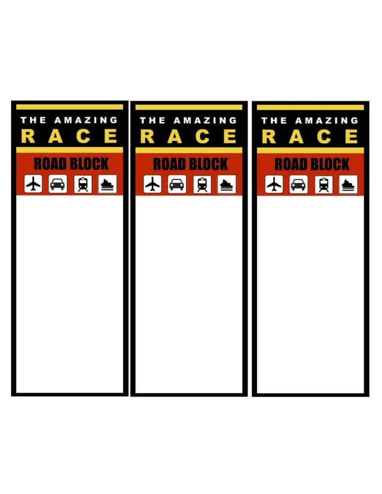 The amazing race clue template choice image template for The amazing race clue template