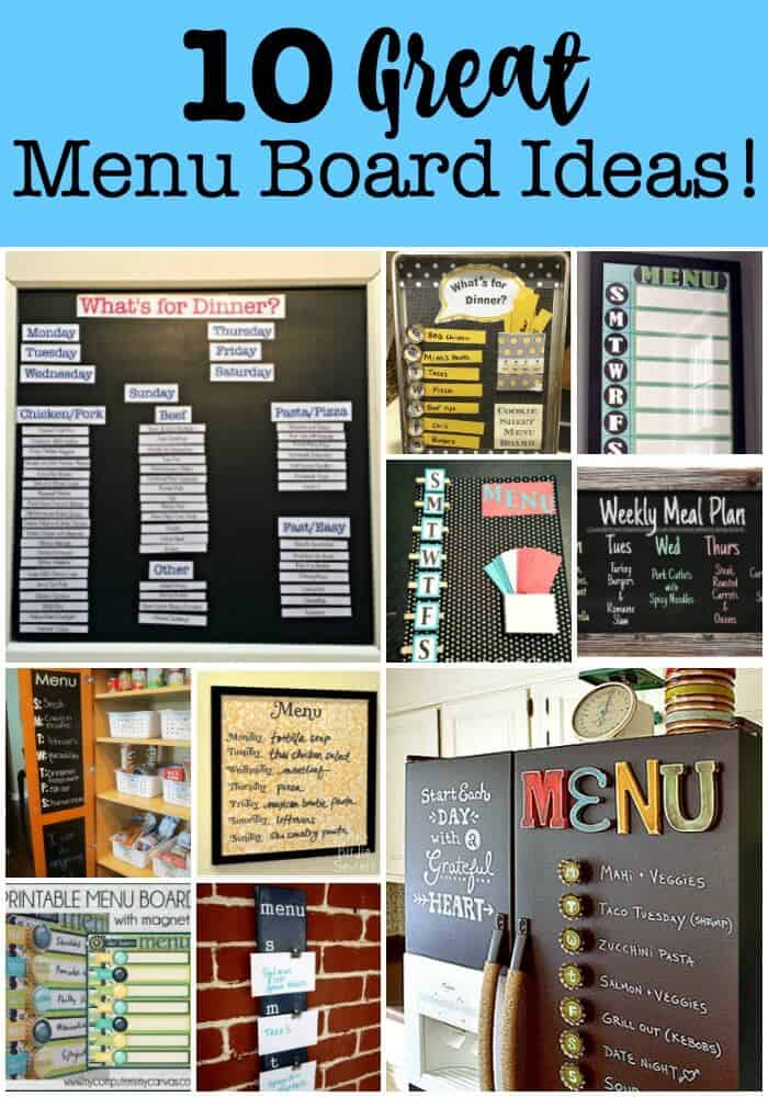 Using a menu board in your kitchen is one of the best ways to get yourself into the habit of weekly menu planning! Whether you create a DIY menu board or use a chalkboard menu board- you'll love it for meal planning!