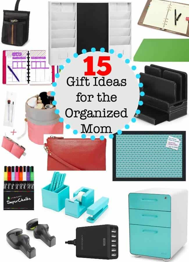 Whether a Mom already considers herself to be fairly organized, or is she simply aspires to be- she will appreciate these thoughtful gifts that are perfect for the organized Mom!