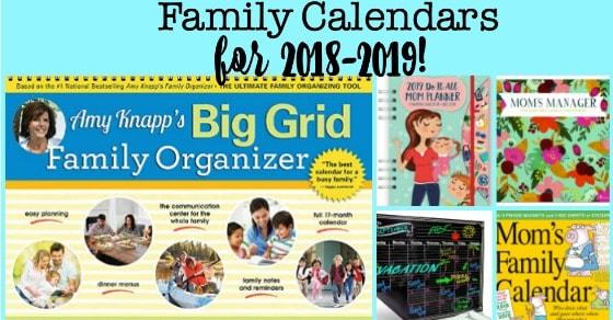 the best family calendars for 2018 2019 momof6