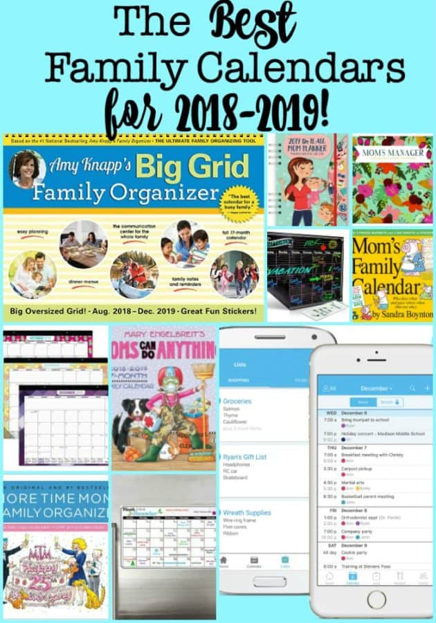 the best family calendars for 2018 2019 momof6
