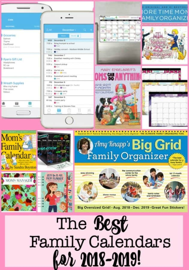 The Best Family Calendars for 2019-2020! - MomOf6