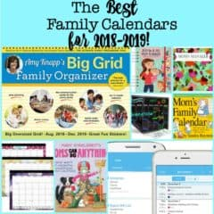The Best Family Calendars for 2018-2019!