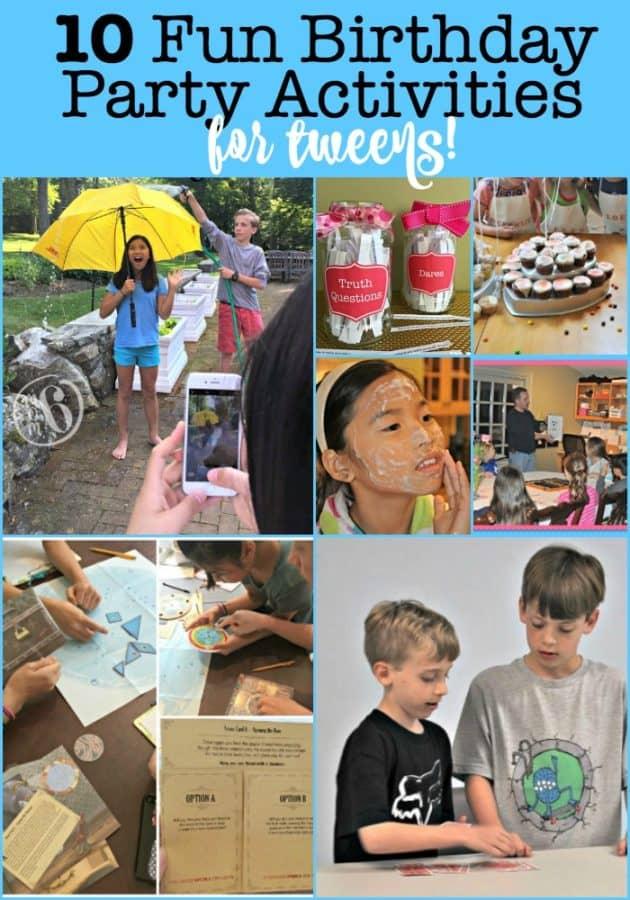 If you are planning a birthday party for your tween, you have to give some thought on how you are going to entertain the guests. So here are 10 fun birthday party activities for tweens!
