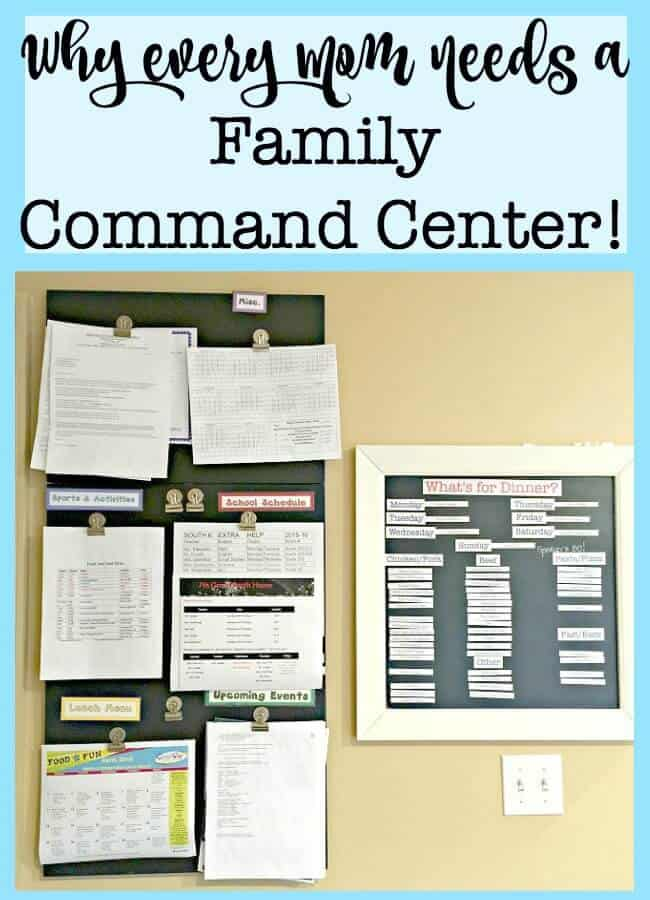 Having a way to handle and organize all of the paperwork in your life will help you to declutter your mind and your home. A family command center is the place to do just that!