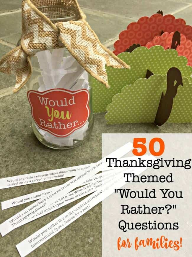 Are you looking for a fun game to play with your family at the Thanksgiving dinner table? These Thanksgiving-themed