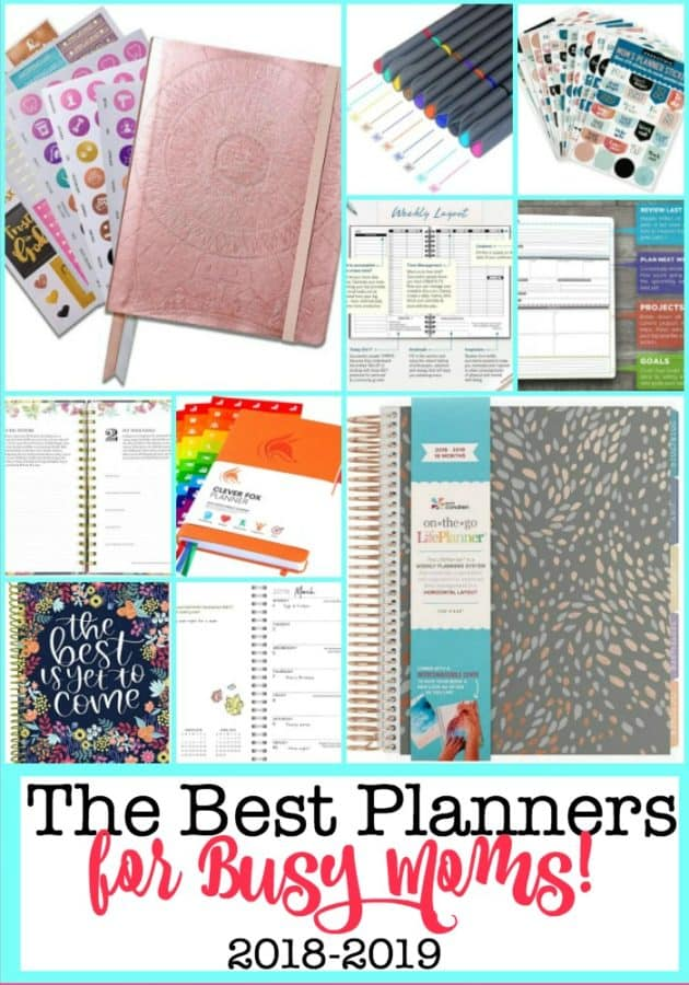 Here are the best planners for Moms for 2018-2019, which can lead you to set clear intentions for your life and help you to create goals and break those goals down into smaller steps so that you can achieve them!