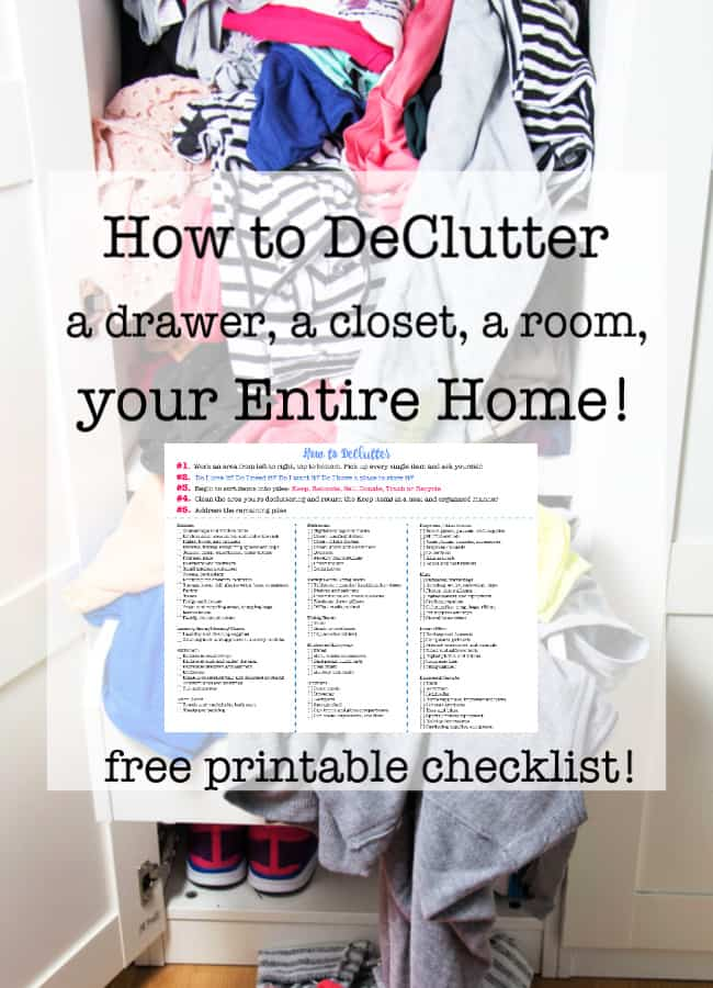 How To Declutter A Drawer A Closet A Room Your Entire Home