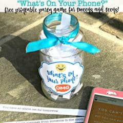 What's On Your Phone? (Free Printable Party Game for Tweens and Teens!)