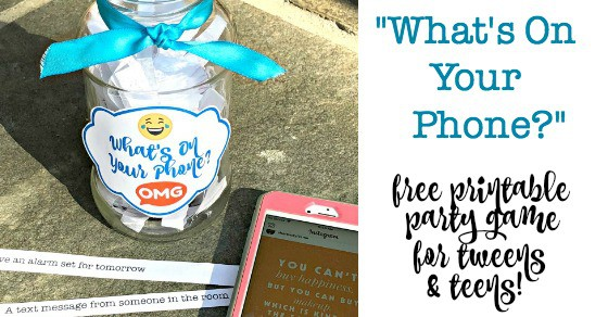 photograph relating to What's in Your Cell Phone Game Free Printable titled Whats Upon Your Cellular phone? (Free of charge Printable Occasion Sport for Tweens