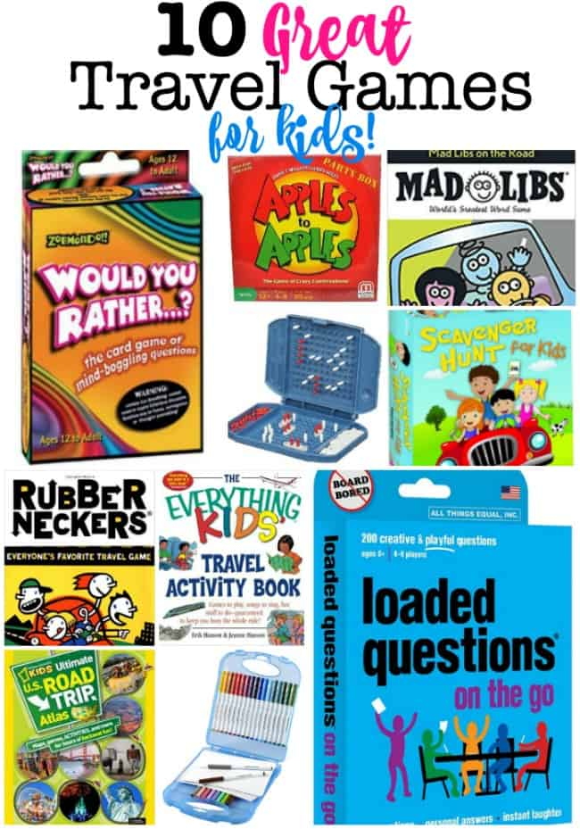 Taking a family road trip? Here's our list of 10 great travel games for kids!