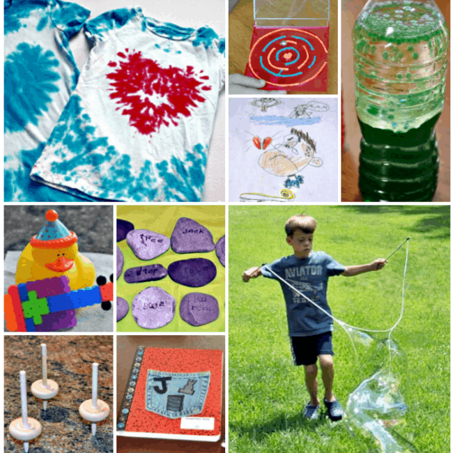 If you're thinking about ditching the high price of summer camp for your kids and doing your own DIY summer camp- awesome! Here are 50 fun summer activities, craft projects, backyard games, and field trips for you to plan your summer camp at home!