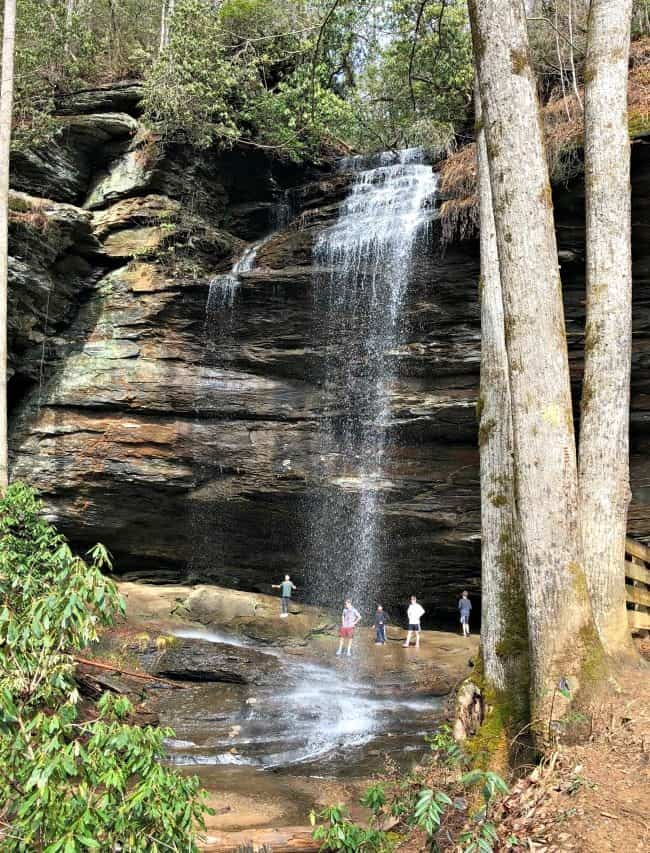 things to do in Asheville with kids: More Cove Falls