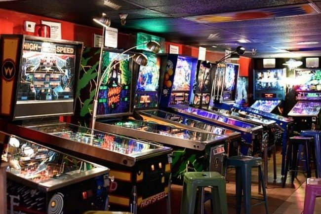 things to do in Asheville with kids: pinball museum