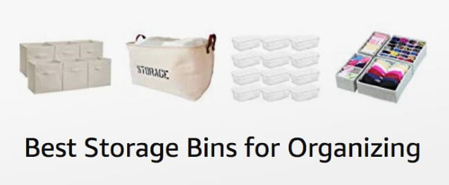 the best storage bins for organzing your home