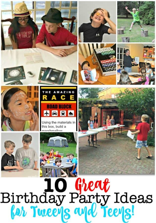 I love throwing kids birthday parties at home- and that doesn't end when the kids become tweens and teens! At this age, kids want to celebrate their special day with their friends and just have fun together. So here are some birthday party ideas for tweens and teens that include themes to make your party great!