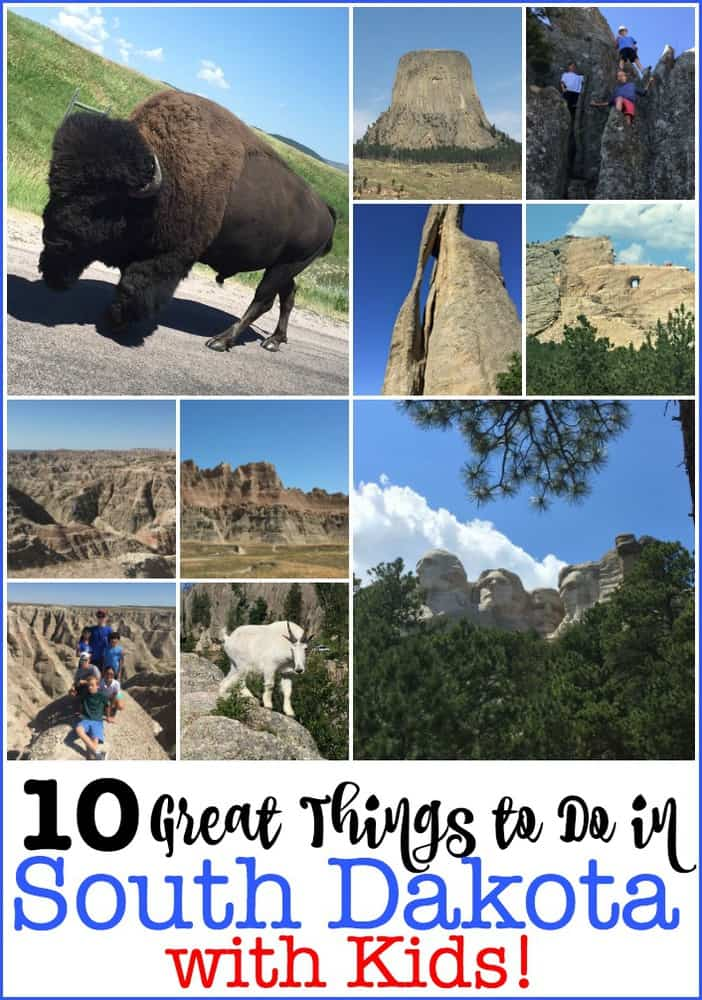 There are so many great things to do in South Dakota with kids! We took a family road trip to the Black Hills area to see Custer State Park, the Badlands, Mount Rushmore, Crazy Horse, Wall Drug, Devils' Tour, Spearfish Canyon and more! An amazing family vacation! #ThingsToDoInSouthDakota #RoadTrip #FamilyVacation #SouthDakota #NationalParks