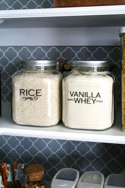 organized pantry storage