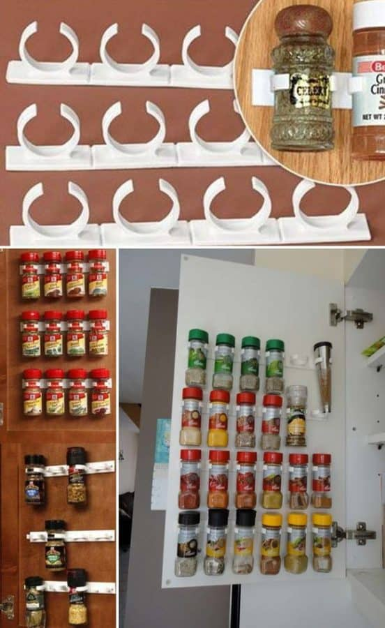 spice rack in the pantry