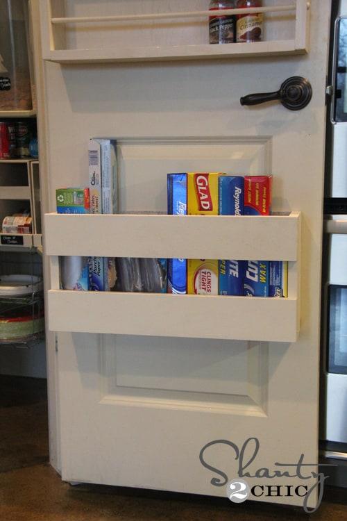 door storage in pantry