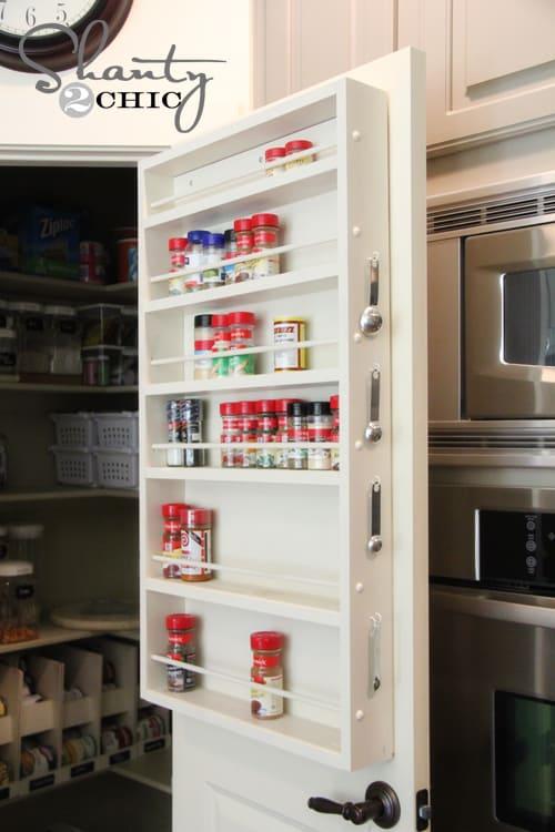 behind the door spice cabinet