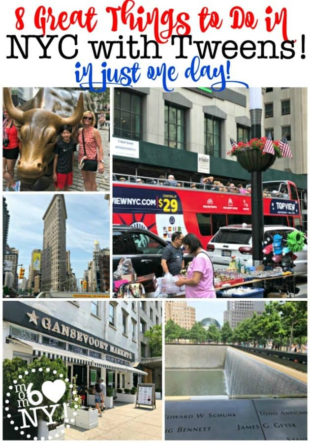 "One of the best kinds of family road trips to take is one where you get to play ""tourist"" in your own home state! Here are 8 great things to do in New York City with tweens- that you can do in just one day!"