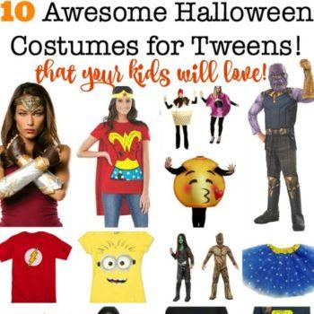 10 Halloween Costumes for Tweens {2018}