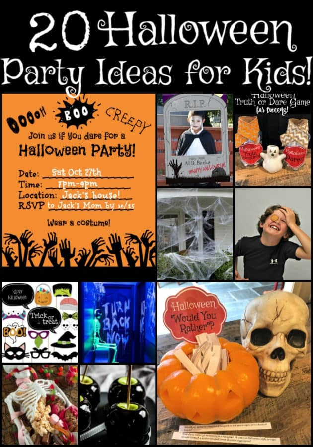 When your kids are young- Halloween is all about the party at school and trick-or-treating. But when they become too big to go door-to-door begging for treats-they still want to celebrate Halloween with their friends! Here are 20 Halloween Party Ideas for Kids!