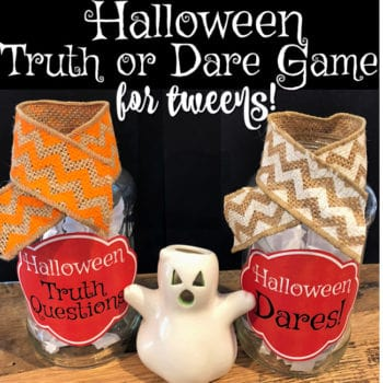 Halloween Truth or Dare Game for Tweens {free printable party game}
