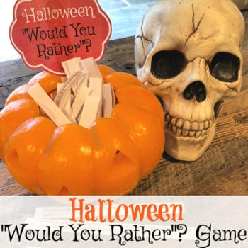 Halloween Would You Rather Game for Tweens! {free printable party game!}