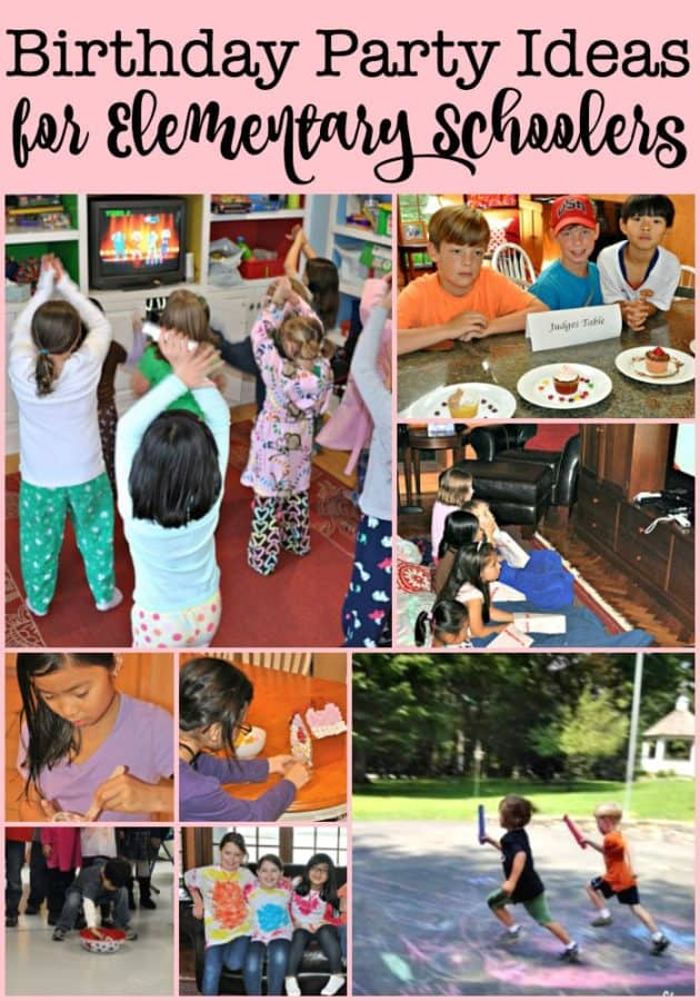kids party ideas at home for elementary schoolers