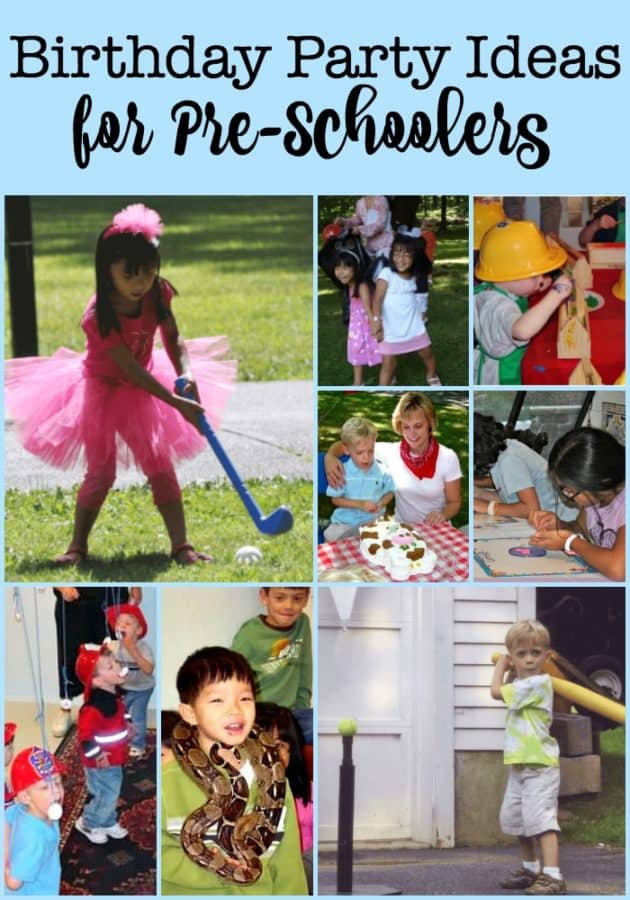 at home birthday party ideas for preschoolers