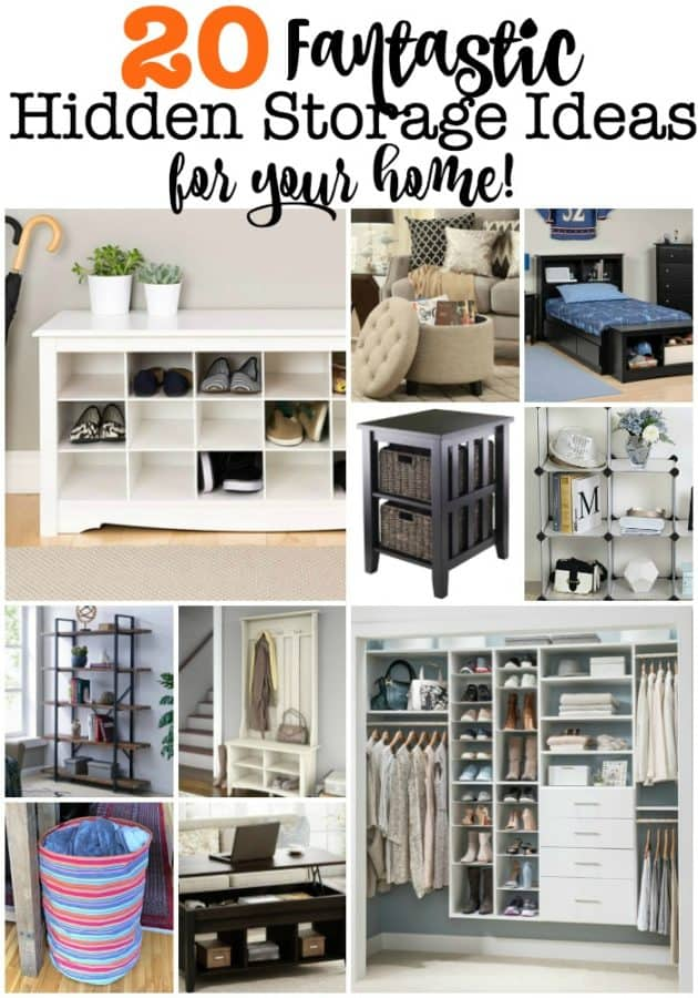 It seems like there is never enough room to store everything you own! This post on 20 fantastic storage ideaswill help you to create storage in your bedroom, entryway and living room- helping you to tame the clutter and get organized!