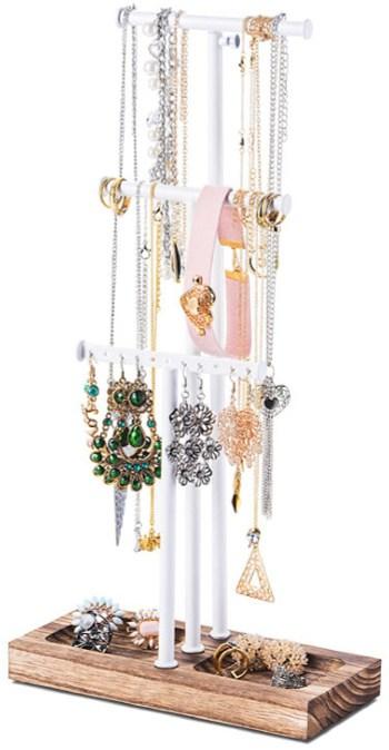 Top Tabletop Pick: Kankei White Metal & Wood Jewelry Tree