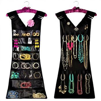 dress-shaped hanging jewelry organizer