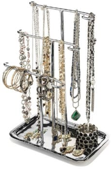 metal jewelry tower