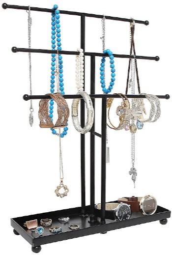 Modern Metal Jewelry Tree