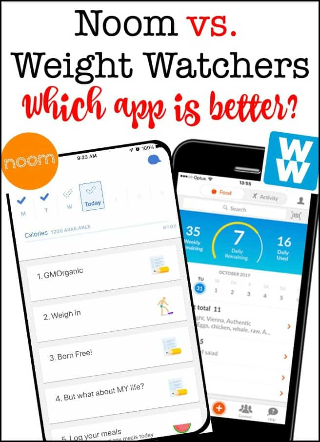 Wouldn't it be great if there was an app to help you make healthy food choices and inspire you to exercise? And help you lose weight? One that really works? Noom vs. Weight Watchers- which one is best?